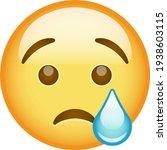 emoji crying face tears emoticon   Shutterstock .eps vector #1938603115