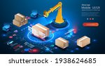 smart logistics industry 4.0....   Shutterstock .eps vector #1938624685