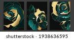 luxury gold and dark green rose ... | Shutterstock .eps vector #1938636595
