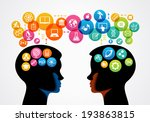 communication concept. ... | Shutterstock .eps vector #193863815