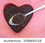 black sesame seeds in the shape ... | Shutterstock . vector #1938645118