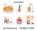 different people spend time... | Shutterstock .eps vector #1938677698