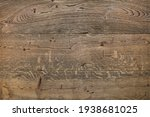 Old  Cracked Wooden Background...