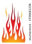 hot rod blaze and flame graphic ... | Shutterstock .eps vector #1938681238