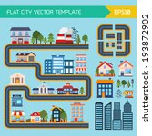 flat city infographic... | Shutterstock .eps vector #193872902