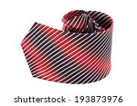 striped necktie close up on... | Shutterstock . vector #193873976