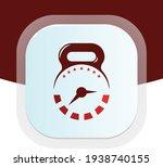 Clock Logo Design With Dumbbell ...