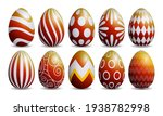set of red and yellow easter... | Shutterstock .eps vector #1938782998