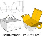 folding box with handle ...   Shutterstock .eps vector #1938791125