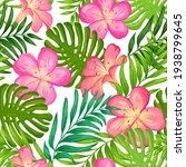 floral exotic tropical seamless ... | Shutterstock .eps vector #1938799645