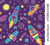 space seamless pattern for...   Shutterstock .eps vector #1938814288