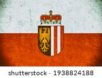 grunge flag of upper austria  | Shutterstock . vector #1938824188