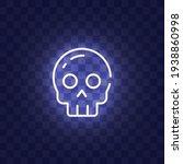 skull neon sign isolated ... | Shutterstock .eps vector #1938860998