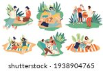 families and couples on picnics ... | Shutterstock .eps vector #1938904765