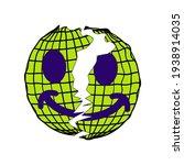 earth broken smile streetwear... | Shutterstock .eps vector #1938914035