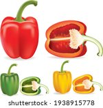 Set Of Three Peppers. Yellow ...