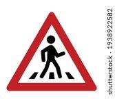 pedestrian crossing icon. zebra ...   Shutterstock .eps vector #1938922582