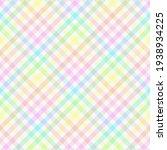 diagonal rainbow gingham. multi ... | Shutterstock .eps vector #1938934225