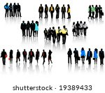 illustration of business people | Shutterstock .eps vector #19389433