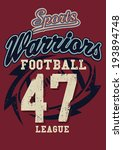 sports warriors football league ... | Shutterstock .eps vector #193894748
