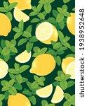 seamless pattern of lemon fruit ... | Shutterstock .eps vector #1938952648
