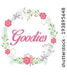 beautiful floral with text....   Shutterstock .eps vector #193895648