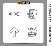 pictogram set of 4 simple...