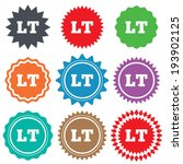 lithuanian language sign icon.... | Shutterstock .eps vector #193902125