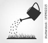 dark grey watering can sprays...   Shutterstock .eps vector #193902215