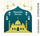 ramadan kareem with hanging...   Shutterstock .eps vector #1939024948