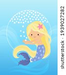 the mermaid reaches out to...   Shutterstock .eps vector #1939027282