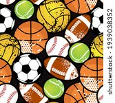 seamless sport pattern with... | Shutterstock .eps vector #1939038352