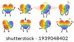 cute rainbow hearts. happy...   Shutterstock .eps vector #1939048402