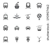 transport icon set | Shutterstock .eps vector #193907462