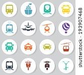 transport icon set | Shutterstock .eps vector #193907468