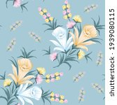 allover yellow pink and blue... | Shutterstock .eps vector #1939080115