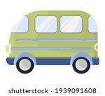 Vintage Green Tourist Bus....