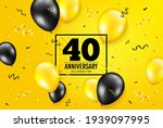 40 years anniversary. forty... | Shutterstock .eps vector #1939097995