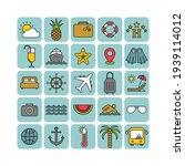 marine flat vector icons set....   Shutterstock .eps vector #1939114012