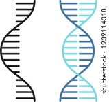 rna and dna related vector thin ... | Shutterstock .eps vector #1939114318