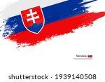 stylish brush flag of slovakia. ... | Shutterstock .eps vector #1939140508