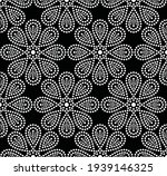 Flower Seamless Pattern. Dotted ...