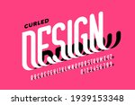 curled style font design ... | Shutterstock .eps vector #1939153348