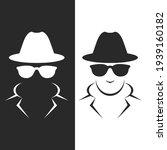 undercover agent or spy  ... | Shutterstock .eps vector #1939160182