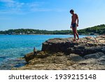 Silhouette Of A Young Guy On A...
