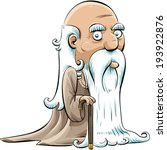 a wise  old cartoon man with a... | Shutterstock .eps vector #193922876