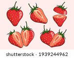 strawberry fruit collections...   Shutterstock .eps vector #1939244962
