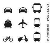 transportation icon set. taxi... | Shutterstock .eps vector #1939253725