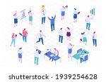 isometric cartoon office people ...   Shutterstock .eps vector #1939254628