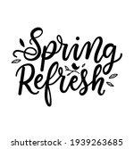 spring refresh lettering sign... | Shutterstock .eps vector #1939263685